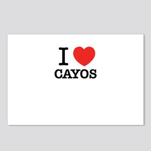 I Love CAYOS Postcards (Package of 8)