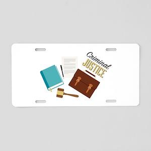 Criminal Justice Aluminum License Plate