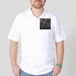 chic glitter black Sequins Golf Shirt