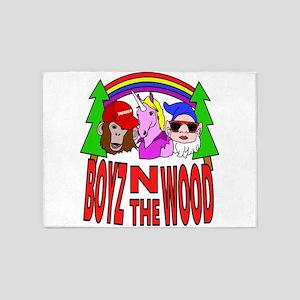 Boyz In The Wood 5'x7'Area Rug