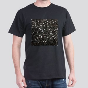 chic glitter black Sequins T-Shirt