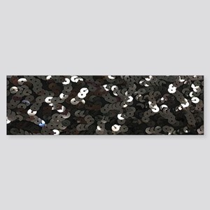 chic glitter black Sequins Bumper Sticker