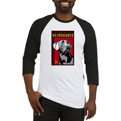 Obey the Weimaraner! Dictator Baseball Jersey