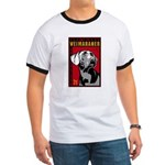 Obey the Weimaraner! men's Ringer T