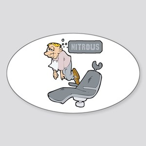 Nitrous Oxide! Oval Sticker