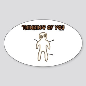 Thinking of You Oval Sticker