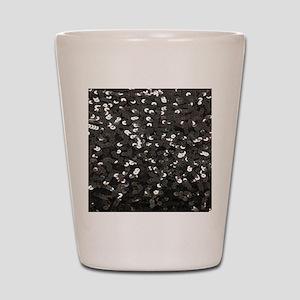 chic glitter black Sequins Shot Glass