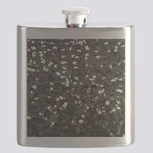 chic glitter black Sequins Flask