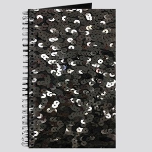 chic glitter black Sequins Journal