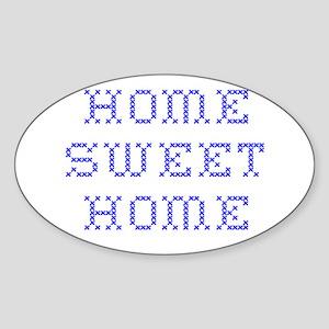 home sweet home Oval Sticker