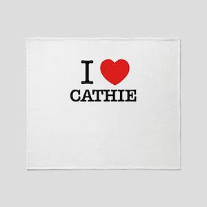 I Love CATHIE Throw Blanket