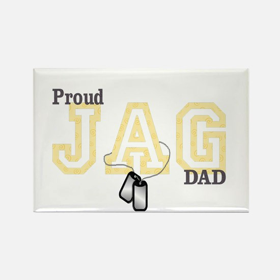 proud jag dad Rectangle Magnet
