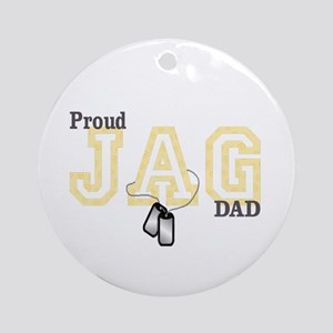 proud jag dad Ornament (Round)