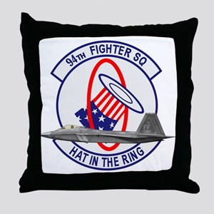 94th Fighter Squadron Throw Pillow