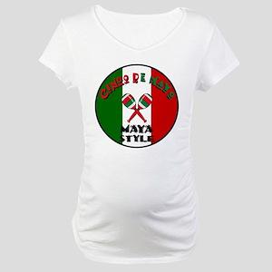 Maya Cinco De Mayo Maternity T-Shirt