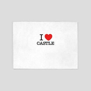 I Love CASTLE 5'x7'Area Rug