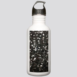 chic glitter black Seq Stainless Water Bottle 1.0L