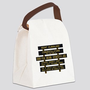 Mount Kilimanjaro, Uhuru Peak, Ta Canvas Lunch Bag