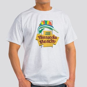 Pensacola Beach Sign, Florida Light T-Shirt