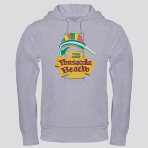 Pensacola Beach Sign, Florida Hooded Sweatshirt