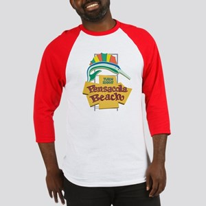 Pensacola Beach Sign, Florida Baseball Jersey