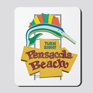 Pensacola Beach Sign, Florida Mousepad