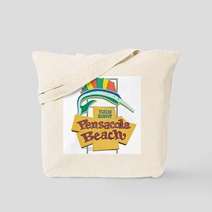 Pensacola Beach Sign, Florida Tote Bag