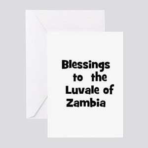 Blessings  to  the  Luvale of Greeting Cards (Pk o
