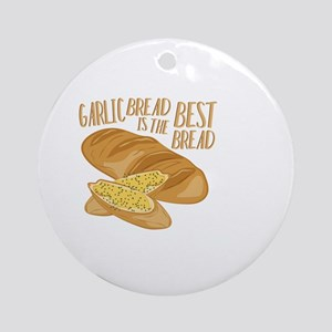 Garlic Bread Round Ornament