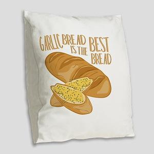 Garlic Bread Burlap Throw Pillow