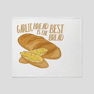 Garlic Bread Throw Blanket