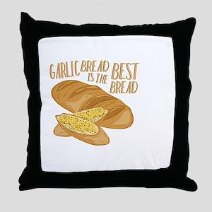 Garlic Bread Throw Pillow