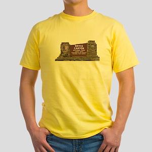 Bryce Canyon National Park Sign, Ut Yellow T-Shirt