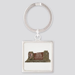 Bryce Canyon National Park Sign, U Square Keychain