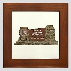 Bryce Canyon National Park Sign, Utah Framed Tile
