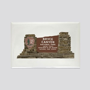Bryce Canyon National Park Sign, Rectangle Magnet
