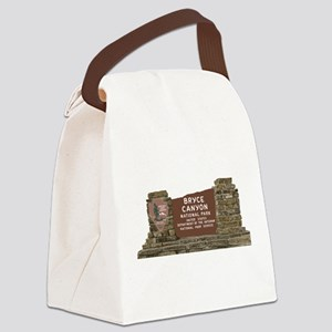 Bryce Canyon National Park Sign, Canvas Lunch Bag