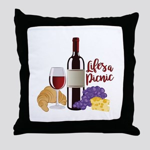 Lifes A Picnic Throw Pillow
