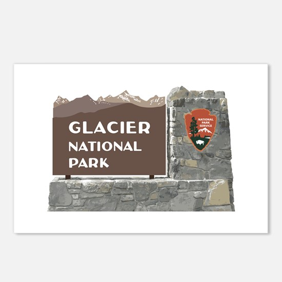 Glacier National Park Sig Postcards (Package of 8)