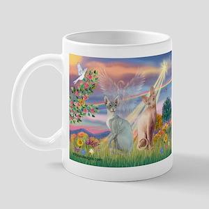 Cloud Angel / Sphynx cat Mug