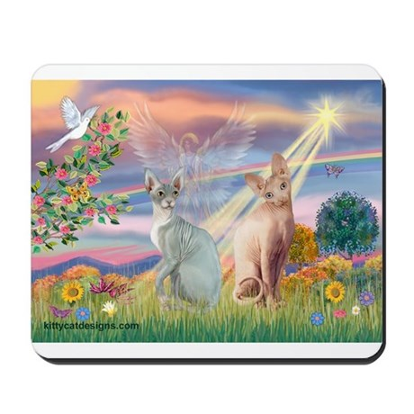 Cloud Angel / Sphynx cat Mousepad