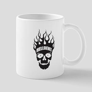 Hell Bent Flaming Skull Mug