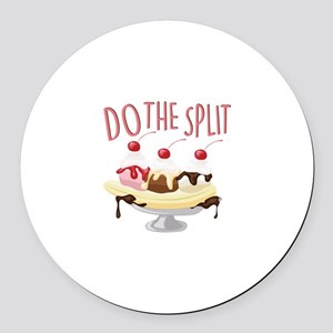 Do The Split Round Car Magnet