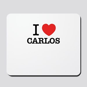 I Love CARLOS Mousepad
