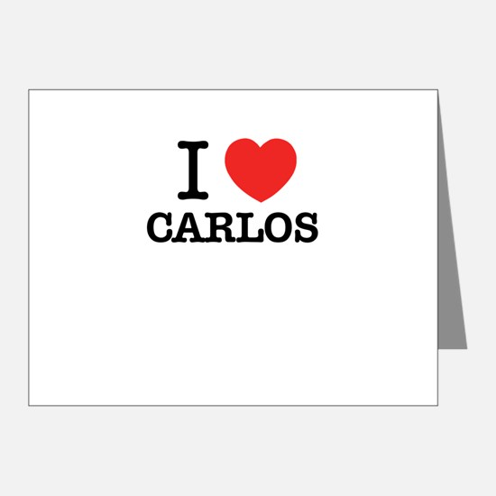 I Love CARLOS Note Cards