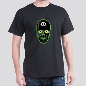 Green Eight Ball Skull Dark T-Shirt