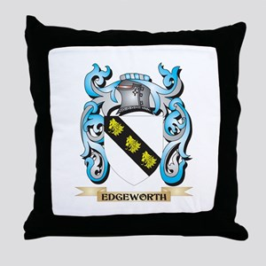 Edgeworth Coat of Arms - Family Crest Throw Pillow