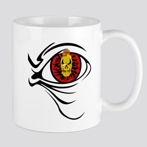 Flaming Skull Red Eye Ball Mug