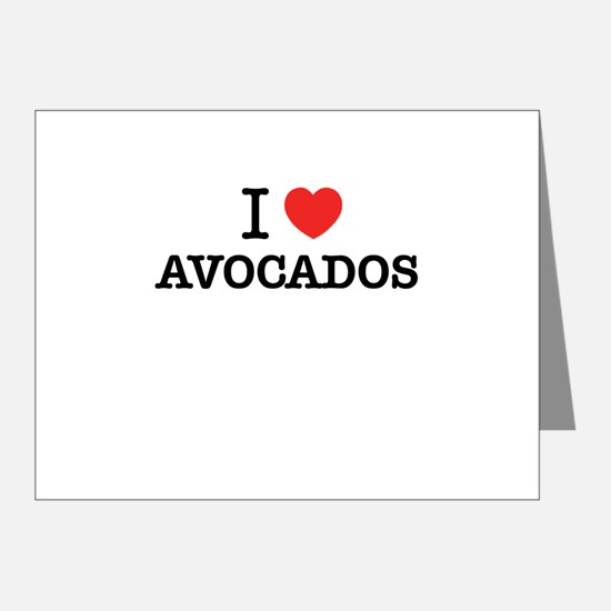 I Love AVOCADOS Note Cards