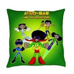Afro-Man & The Protectors Everyday Pillow